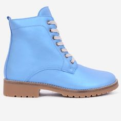 Ghete bleu din piele naturala Dayton Dr. Martens, Timberland Boots, Combat Boots, Shoes, Fashion, Moda, Zapatos, Shoes Outlet, Fashion Styles