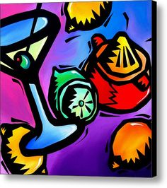 Juicing - Abstract Pop Art By Fidostudio Canvas Print / Canvas Art By Tom Fedro - Fidostudio