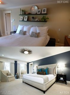 Pulp Elegant Mod Renovation Before and After Master Bedroom