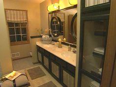 Designer Sara Trosen and HGTV host Joan Steffend transform an outdated bathroom… Relaxing Bathroom, Zen Bathroom, Bathrooms, Budget Bathroom, Bathroom Ideas, Bath Ideas, Bathroom Design Inspiration, Fireplace Design, Bedroom Fireplace