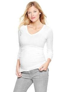 A great basic to pair with a summer scarf or statement necklace. Pure Body long-sleeve V-neck T | Gap