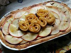 Torta de maçã com ganache