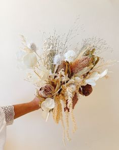 Small Bridesmaid Bouquets, Small Bridal Bouquets, Silk Flower Bouquets, Fall Bouquets, Dried Flower Bouquet, Dried Flowers, Bridesmaid Dresses, Wedding Dresses, Neutral Wedding Flowers