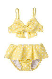 Toddler Girls' Gymboree Yellow Polka Dot Skirted Bikini