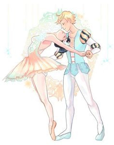 Ballet-- This looks like Marinette and Adrien, so I'll just put this here.