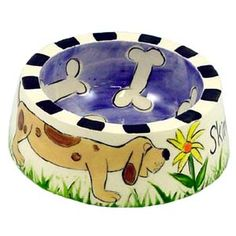 step-by-step instructions on how to create this adorable dog bowl.