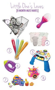 8 month old baby must-haves, gifts, or registry items. #registry #items #favorites