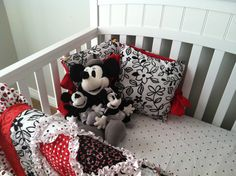 Pillows and vintage Minnie and Mickey Mouse