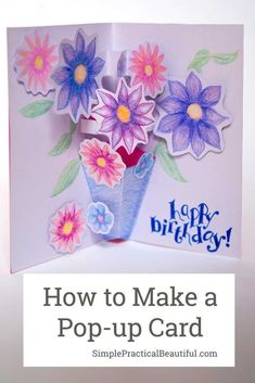 How to Make a Pop-up Card Inspired by Paddington 2 - Simple Practical Beautiful Pop Up Flower Cards, Pop Up Cards, Fancy Fold Cards, Folded Cards, Diy Arts And Crafts, Paper Crafts, Paper Toys, Kid Crafts, Creative Crafts