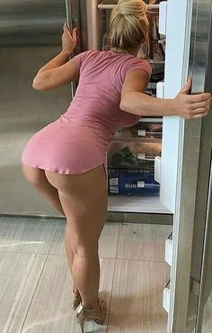 With an ass like this who cares what's in the fridge