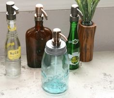 make old bottles soap dispensers. by SN0922