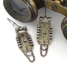 Romantic Earrings Vintage Watch Dials Exclusive design by Mystic Pieces
