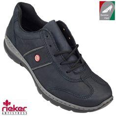 Rieker női bőr cipő L3220-14 sötétkék