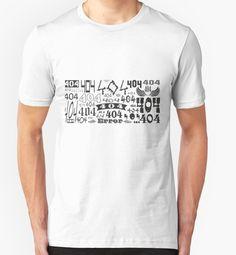Error 404 - not found - T-Shirts von Regina Hoer auf Redbubble