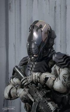 Future Soldier Design by Robert Bubel - Valhallan Nebula
