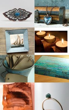 """""""Brave: Lose Site of the Shore"""" - a wonderful treasury curated by Carter, of WomanShopsWorld, featuring my painting """"Silk Road Sienna"""" --Pinned with TreasuryPin.com"""