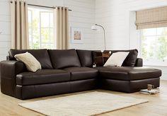 Startus leather corner sofa from Next