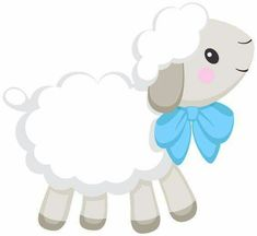 Shower Bebe, Baby Boy Shower, Eid Stickers, Diy And Crafts, Crafts For Kids, Blue Nose Friends, Baby Dedication, Cute Sheep, Happy Eid