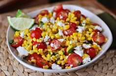 No better way to usher in summer and salads and all things light and refreshing than to do it with this Mexican tomato and corn salad which is quite possibly the tastiest little veggie-salad-side d...