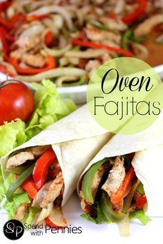 Oven Fajitas Recipe ~ Super easy meal with just one pan!!