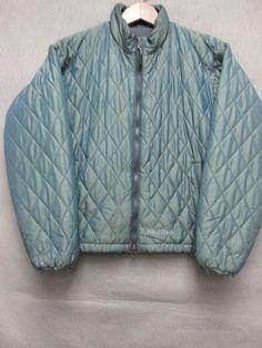 2e4b2604bd Marmot Green Nylon Poly fill Zip Up Jacket Women S
