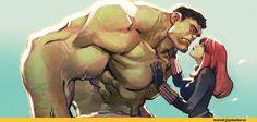 Halk,Black Widow,Черная Вдова, Наташа Романофф,S.H.I.E.L.D.,Щ.И.Т.,Marvel,фэндомы,joel27,artist,art,арт,красивые картинки,Hulk,Халк, Брюс Баннер