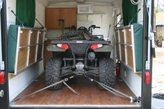secrets to cargo trailer conversion toy hauler cargo trailer conversion toy hauler and cargo trailers Enclosed Trailer Camper Conversion, Enclosed Cargo Trailers, Cargo Trailer Conversion, Tiny Trailers, Camper Trailers, Bike Trailer, 6x12 Enclosed Trailer, Travel Trailers, Tent Camping Organization