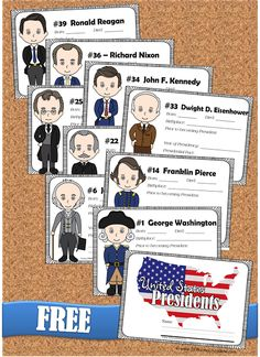 FREE Presdients Fact Book for kids in BLACK & WHITE and COLOR - Super cute book with cute president clipart for each of the 44 presidents and space to write in facts for each president from George Washington through Donald Trump. LOVE this LOW PREP free printable resource for homeschool social studies Kindergarten, first grade, 2nd grade, 3rd grade, 4th grade, 5th grade, and 6th grade (presidents, united states, goverrnment)