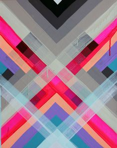 color and design loveliness - maya hayuk & jen stark, double rainbow rainbow Art And Illustration, Geometric Painting, Abstract Art, Geometric Prints, Textures Patterns, Print Patterns, Arte Fashion, Fashion Design, Motifs Textiles