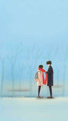 Gong yoo kim go eun Goblin drama wallpaper ❤❤ Love Cartoon Couple, Cute Couple Art, Anime Love Couple, Goblin Wallpaper Kdrama, Goblin Kdrama Fanart, Hiro Big Hero 6, Goblin Korean Drama, Goblin Art, Cute Couple Wallpaper