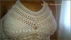 Top Cropped de crochê, frente única e tiras para ajustar nas costas. Peça feita com linha.Pode ser feito nos tamanhos P, M ou G e em qualquer cor: consulte Pode ser feito sem bojo