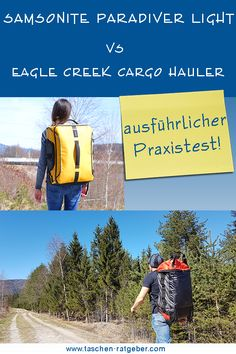Eagle Creek Cargo Hauler vs Samsonite Paradiver Light Eagle Creek, Trolley, Travelling, Carry On Suitcases, Air Travel, Tips And Tricks, Viajes, Bags, Pictures