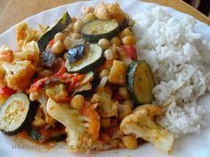 Silkes sexy Sattmacher - Gesund schlemmen!: Indische Gemüsepfanne mit Reis