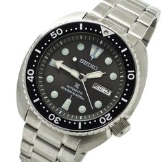 Seiko Prospex SRPC23K1 Mens Watches Online, Watches For Men, Seiko Automatic, 200m, Seiko Watches, Stainless Steel Case, Turtle, Watches, Turtles