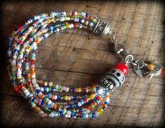 Christmas Beads Charm Bracelet. $40.00, via Etsy.
