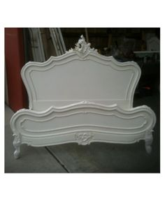 Allissias Attic Design   Vintage French Style   French Louis XV Queen    King  French Linen Queen or King Bed Head   Headboard   Natural   Bed  . Louis Style Bedroom Furniture. Home Design Ideas