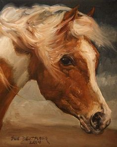 "Daily Paintworks - ""Assateague Pony"" by Sue Deutscher"