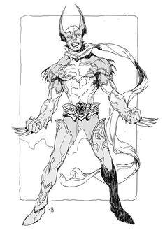 Wolverine x Kamen Rider by Kim Il Kwang *