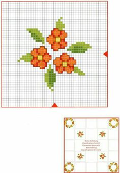 Tiny Cross Stitch, Cross Stitch Flowers, Counted Cross Stitch Patterns, Cross Stitch Charts, Cross Stitch Designs, Cross Stitch Embroidery, Hand Embroidery, Embroidery Dress, Broderie Simple