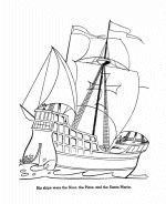 Columbus Day coloring page 3