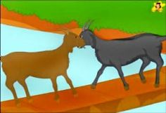Childrens stories online - The two silly goats started pushing each other Small Stories For Kids, Moral Stories For Kids, Kids Story Books, Popular Short Stories, Love Short Stories, Lion And The Mouse, Picture Story, Story Video, Kid Movies