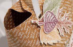 stampin up Verpackung Envelope Punch Board Herbst Shopping Bag
