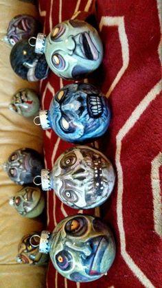 zombie ornaments treetopiaholidays halloween christmas - Halloween Christmas Ornaments