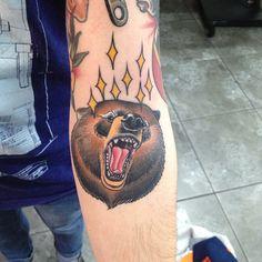 Bear tattoo by Dan Molloy.
