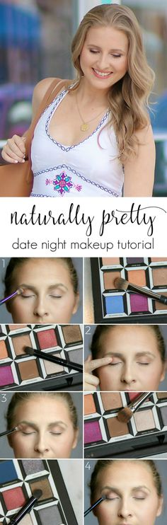 Looking for the perfect date night makeup look? This naturally pretty makeup tutorial will highlight your natural beauty and bring out your inner confidence. It's quick and easy to complete, and I'm sharing all of my favorite makeup application techniques to ensure that you achieve a great result. Click through this pin to see how I get ready for date nights with @crest! Sponsored by #crest | by Ashley Brooke Nicholas @ashleynicholas