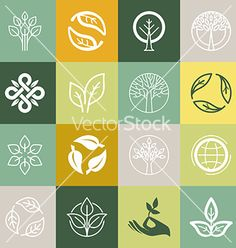 Buy Organic Symbols by venimo on GraphicRiver. Vector set or organic signs and logo design elements – eco and bio emblems. Organic Brand, Organic Logo, Organic Modern, Gfx Design, Icon Design, Logo Biologique, Logo Branding, Branding Design, Tea Logo
