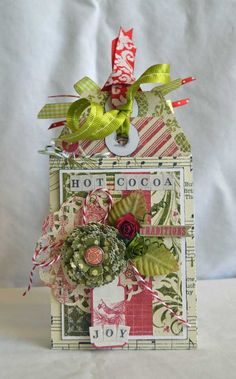Festive Tag Book by Authentique Paper Design Team Member Guiseppa Gubler