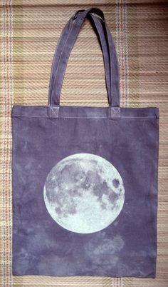 Night Moon Screenprinted Tote. $15.00, via Etsy.