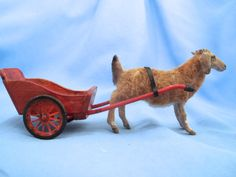 Amazing 1:12 scale miniature goat and cart