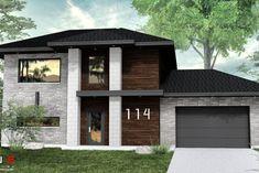 Plans de maisons à étages modernes   Leguë Architecture